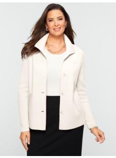 Talbots Merino Stand-Collar Sweater Jacket