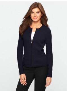Zip-Front Sweater Jacket