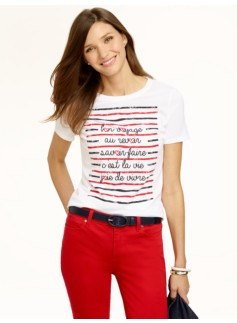 Distressed Stripes Tee
