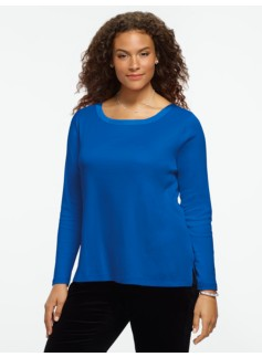 Luxe Interlock Balletneck Tee