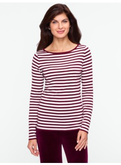 Sparkle Berry Stripe Tee