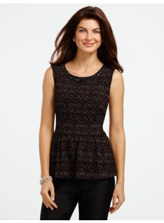 Gem Sparkle Peplum Top