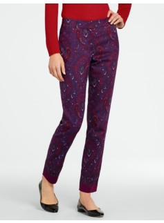 Signature Paisley Ankle Pants
