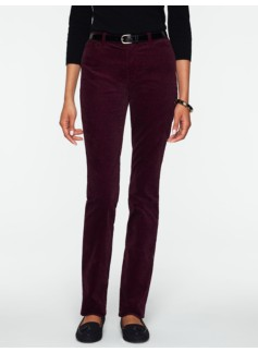 Heritage Slim-Leg Etched-Scroll Velveteen Pants