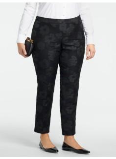 Heritage Sparkle Jacquard Ankle Pants