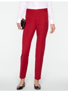 Heritage Diamond Jacquard Ankle Pants
