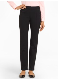 Refined Ponte Tailored Straight-Leg Pants