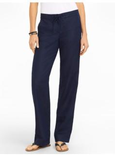 Linen Cotton Twill Wide Leg Pants