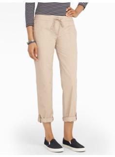 Cotton Poplin Ankle Pants