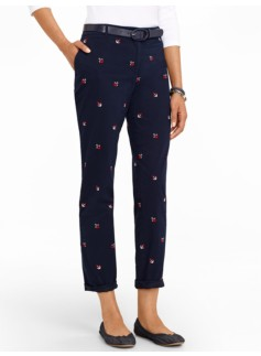 Talbots Weekend Embroidered Anchor Chino