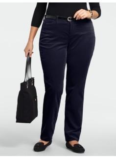 Curvy Slim-Leg Velveteen Pants