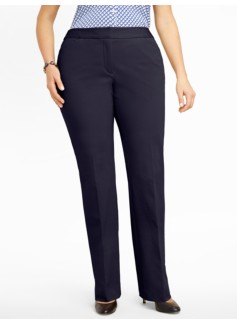 Heritage Cotton Bi-Stretch Straight-Leg Trousers