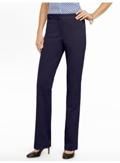 Heritage Cotton Bi-Stretch Straight-Leg Trousers