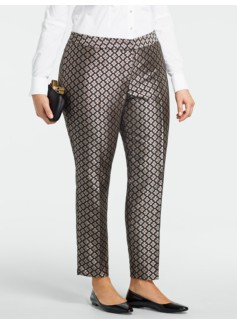 Heritage Floral Jacquard Ankle Pants