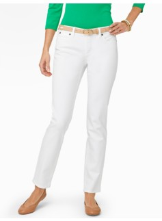 Slimming Signature White Denim Ankle Jeans