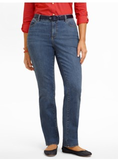 Slimming Heritage Cove Wash Straight-Leg Jeans