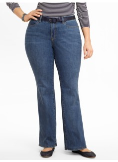 Slimming Curvy Cove Wash Bootcut Jeans