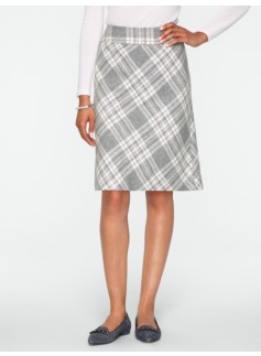 Cozy Plaid A-Line Skirt