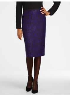 Victoria Jacquard Pencil Skirt