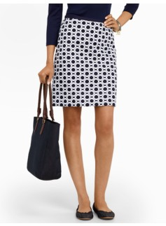 Lifesaver-Print Skirt