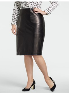 Luxe Leather Pencil Skirt