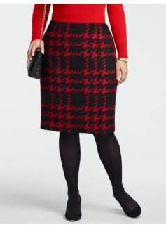 Modern Houndstooth Pencil Skirt