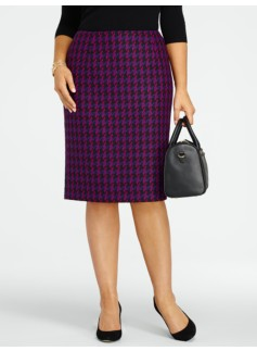 Tonal Houndstooth Skirt