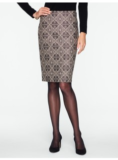 Byzantine Jacquard Pencil Skirt