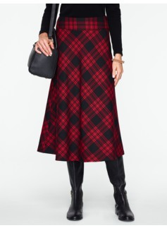 Check Tartan Plaid Flannel Riding Skirt
