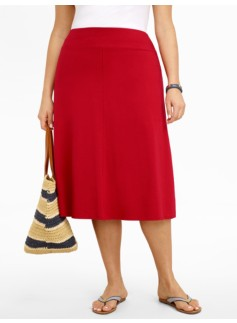 Jersey-Knit Full Skirt
