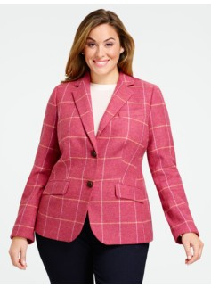 Plaid Shetland Jacket