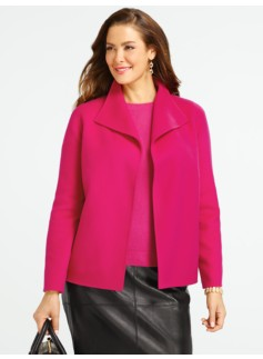 Wing-Collar Double-Faced Jacket