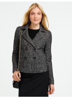 Plain Weave Tweed Jacket