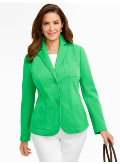 Pique Double-Knit Jacket