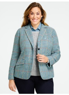 Check Notched-Collar Jacket