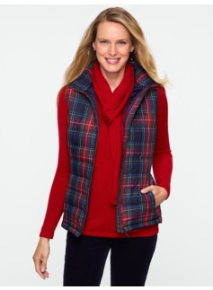 Macbeth Plaid Puffer Vest