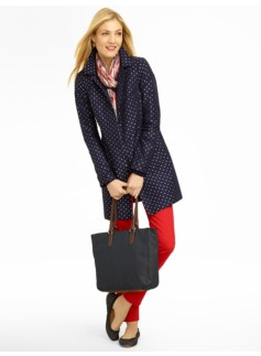 Dot Jacquard Coat