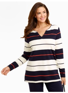 Weekend Terry Nautical Rugby-Stripe Tunic
