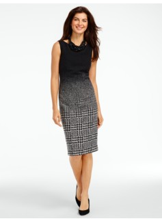Ombr� Houndstooth Sheath