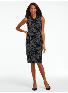 Flocked Floral Sheath