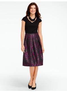 Ponte & Garden Jacquard Dress