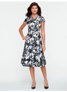 Floral-Print Full Dress