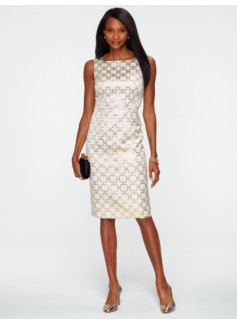 Chain-Link Jacquard Dress