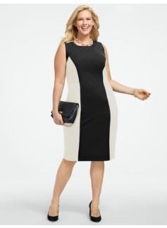 Ponte Colorblocked Dress