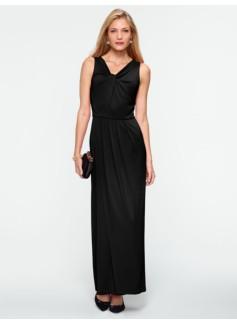 Twist V-Neck Gown