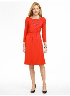 Ruched Platinum Jersey Dress