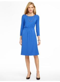 Ruched Platinum Jersey Dress