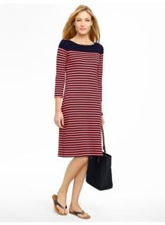 Colorblocked Stripe Tee Dress