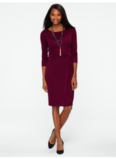 City Jersey Ruched-Wrap Dress