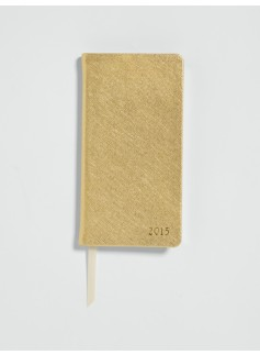 Metallic Leather Pocket Planner